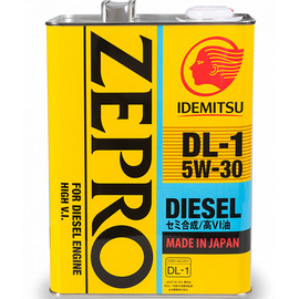Масло моторное 5W30 DL-1  Zepro Disel 4L