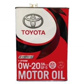 Маcло MOTOR OIL SN 0W20  SYNT 4L мет.